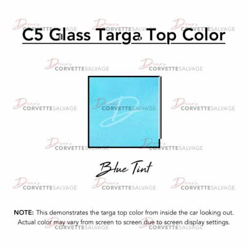 C5 Glass Targa Top Blue Tint Color
