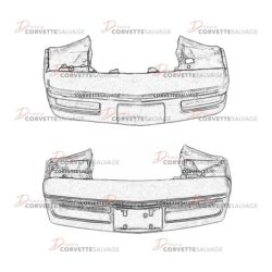 C4 Front Bumper Assembly 1984-1996 Illustrations