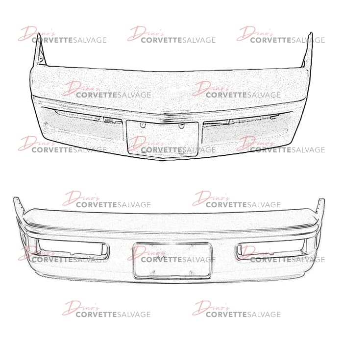 C4 Used Front Bumper Cover 1984-1996