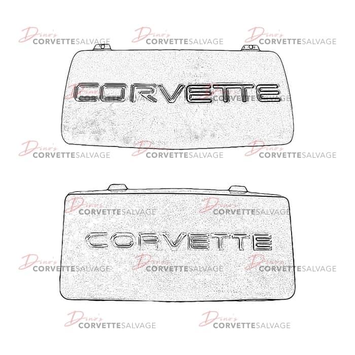 1984-1996 Corvette License Plate with C4 Logo.
