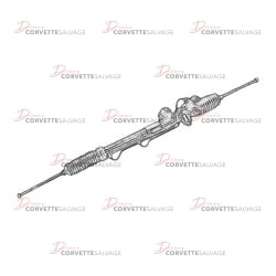 C4 Steering Rack & Pinion 1984-1996 Illustration