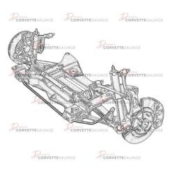 C5 Front Suspension Assembly 1997-2004 Illustration