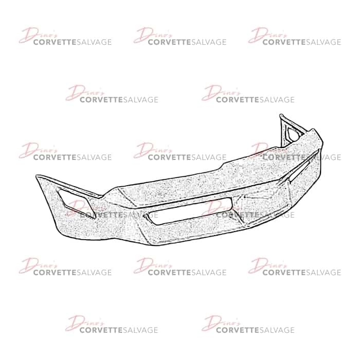 c3 used front bumper cover 1980