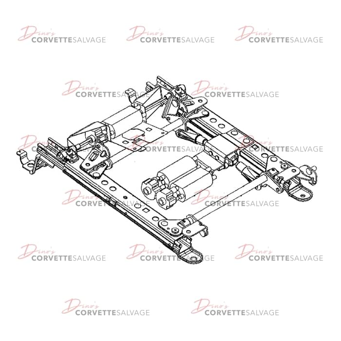 c5 driver side power seat track assembly rebuilding service 1997 2004 Power Step Wiring Diagram