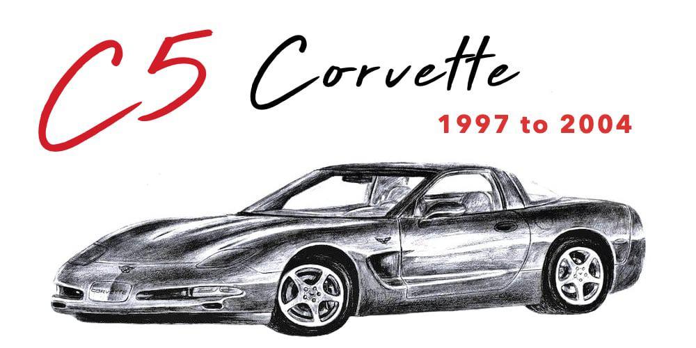C5 Corvette Banner 1997 to 2004