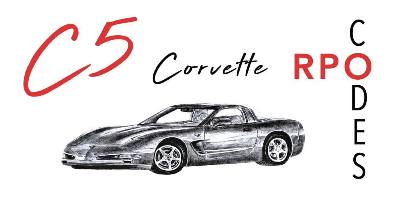 C5 Corvette Regular Production Option (RPO) Codes