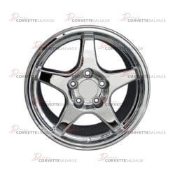 C4-C5 New Chrome 17x9.5 Wheel (C4 ZR-1 Style) 1988-2004