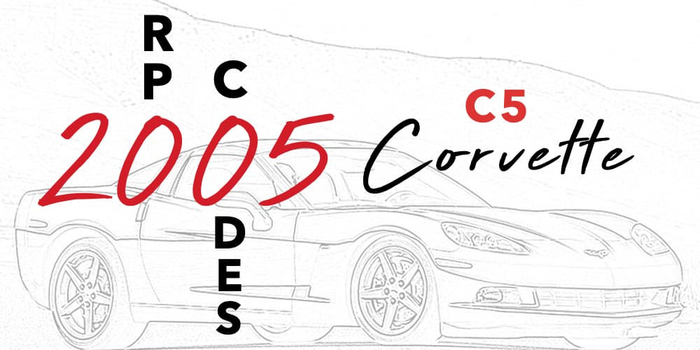 C5 Corvette RPO Codes Banner