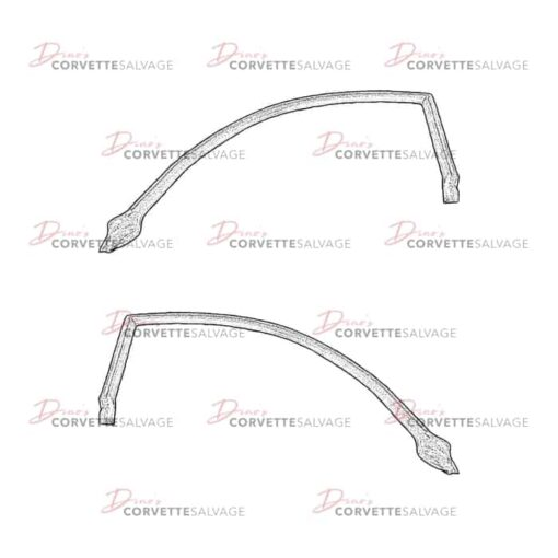 C5 Used Fixed Roof Coupe Door Weatherstrip 1999-2004 1