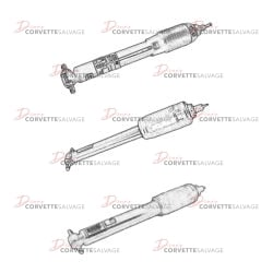 C5 Front Shock Absorber 1997-2004 Illustrations