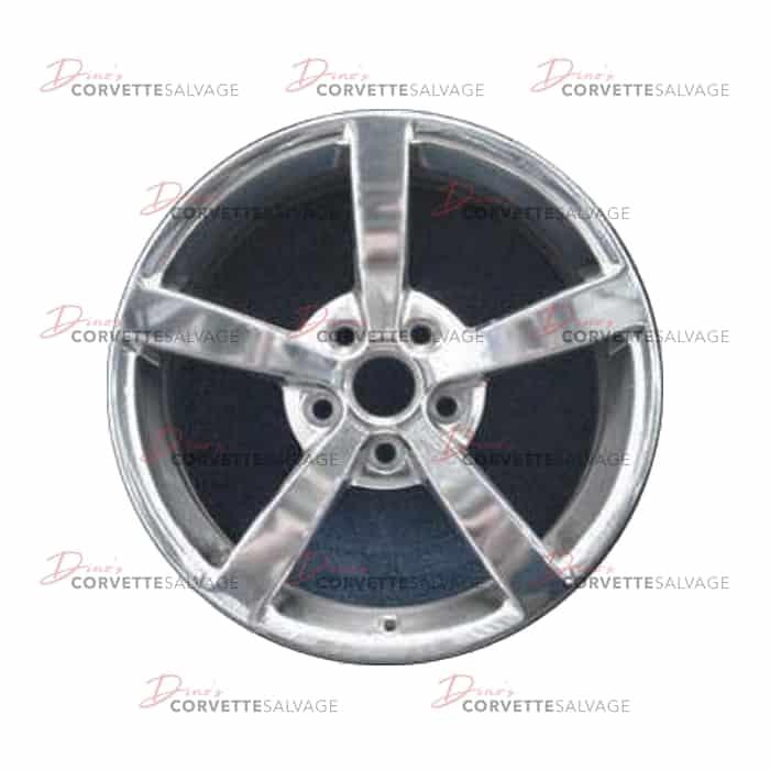C6 Used Polished Front Aluminum 18x8 5 Wheel 2008-2010