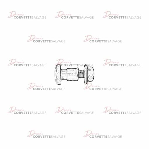 C5 Headlight Hinge Bolt, Bushing & Nut 1997-2004 Illustration