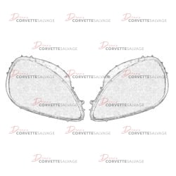 C6 Headlight Lens Set 2005-2013 Illustration