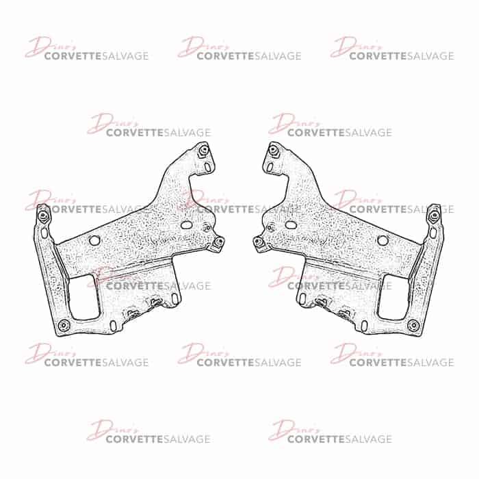 C5 Corvette 1997-2004 Left and Right Headlight Door Mounting Brackets