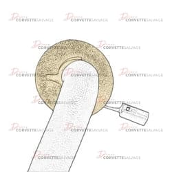 C5 Inner Sunvisor Rod Bezel 1997-2004 Illustration