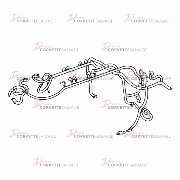 C4 Used C68 Manual Engine Wiring Harness 1991  Corvette Wiring Harness on