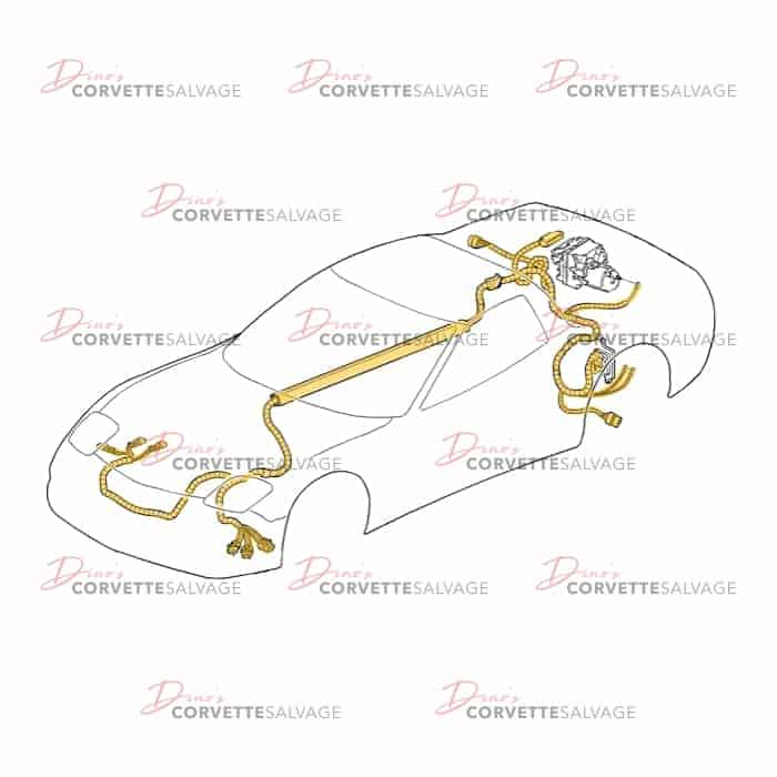 transmission wiring harness diagram c5 used f45 automatic transmission wiring harness 1997 1998  automatic transmission wiring harness