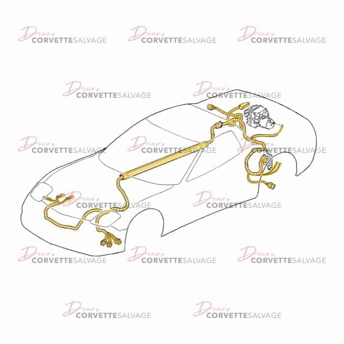 c5 used f45 manual transmission wiring harness 1997