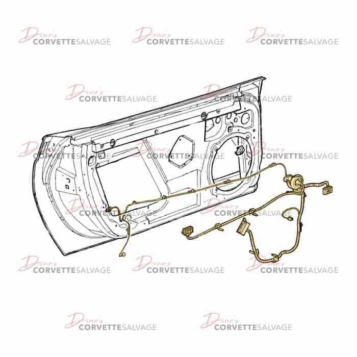 1958 corvette wiring harness c6 used door wiring harness 2005 2009 corvette salvage  c6 used door wiring harness 2005 2009