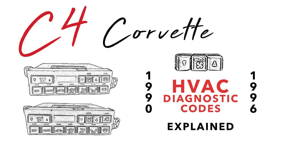 C4 1990 to 1996 Corvette HVAC Diagnostic Codes Explained