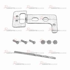 C5 New Driver-Side Knee Bolster Repair Kit 1997-2004 Illustration