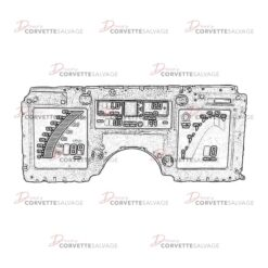 C4 Digital Instrument Cluster 1984-1989 Illustration