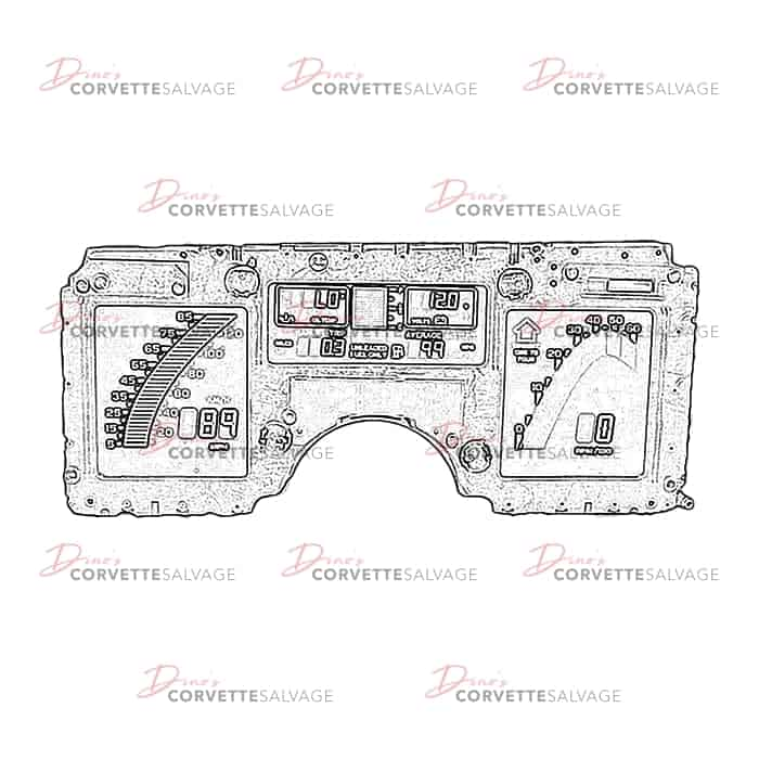 Replaces General Instruments Corvette Digital LCD Dash Cluster Power Supply NEW