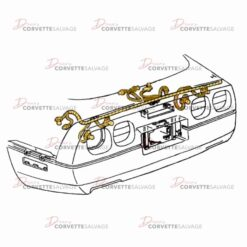 C4 Rear Tail Light Wire Harness 1991-1996 Illustration