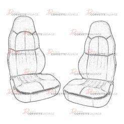 C5 Solid Color Leather Standard Seat Cover Set 1997-2004 Illustration