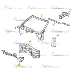 C6 Corvette Windshield Frame/Firewall Assembly 2005-2013 Illustration