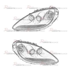 C6 Corvette Headlight 2005-2013 Illustrations