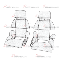 C4 Corvette Sport Seat Foam Set 1991-1993 Illustration