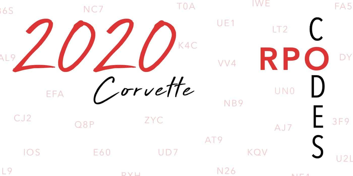 2020 Corvette RPO Codes Banner