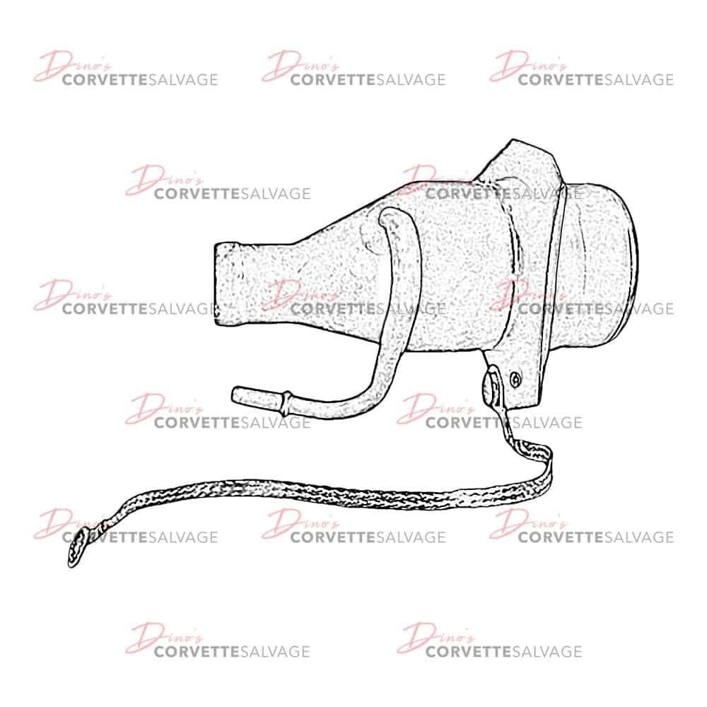 C5-C6 Used Fuel Tank Filler Vent Pipe 2000-2005 | Corvette SalvageCorvette Salvage