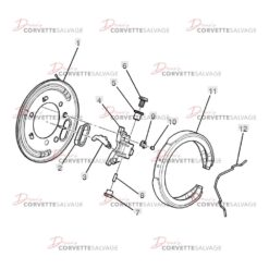 C5-C6 Corvette Rear Parking Brake Assembly 1997-2013 Illustration