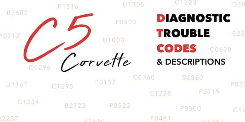 C5 Corvette Diagnostic Trouble Codes (DTCs) & Descriptions Banner