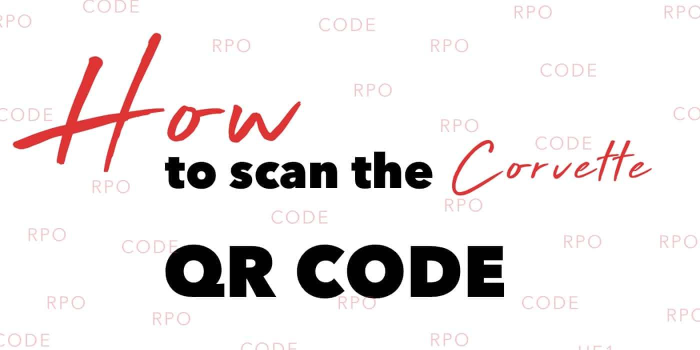 Corvette QR Code RPO Code Banner