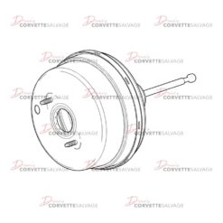 C7 Corvette Ceramic Power Brake Booster 2014-2019 Illustration