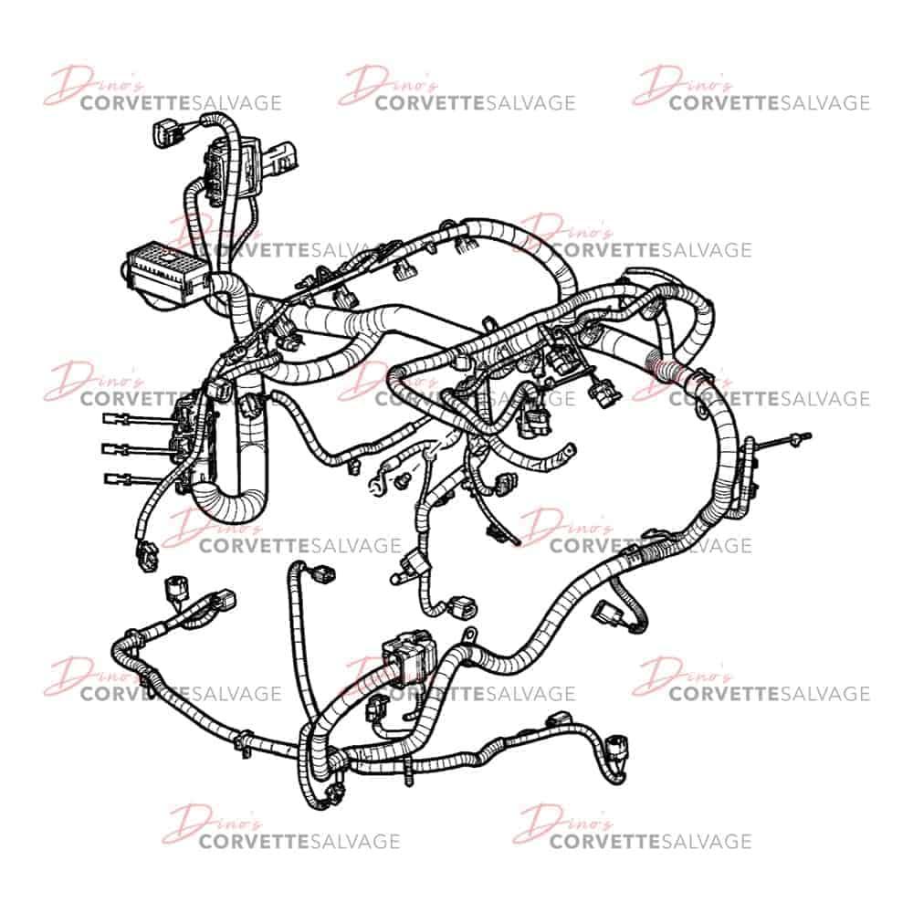 c6 used manual transmission engine wiring harness w  o f55
