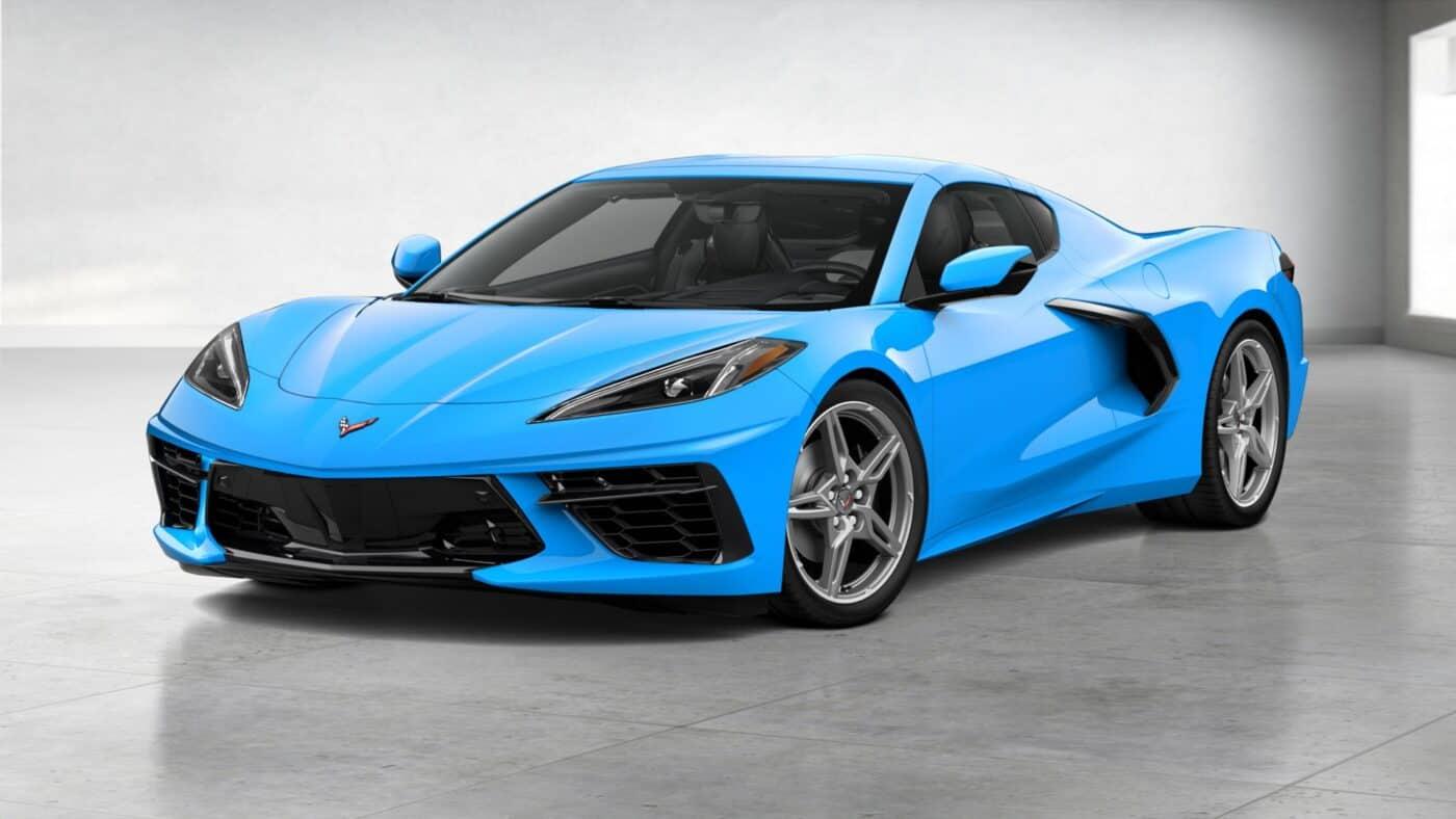 2021 Corvette Stingray Coupe - Rapid Blue Exterior Color
