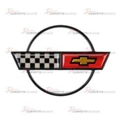 "C4 Corvette New 17"" Wheel Center Cap Emblem 1988-1989"