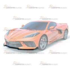 C8 Corvette Carbon Flash Black 5VM Style Front Splitter 2020-2021